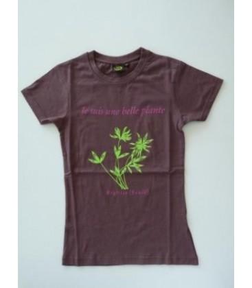 """Tee-shirt adulte forme cintré """"je suis une belle plante"""""""