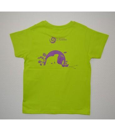 tee shirt vert anis marmotte