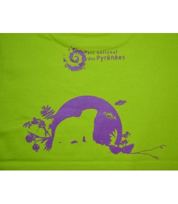 "Tee-shirt enfant vert anis ""marmotte"""