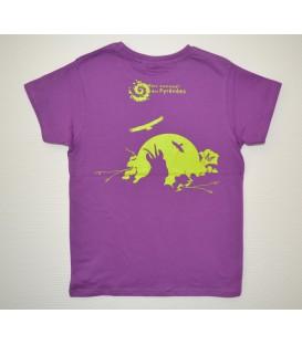 """Tee-shirt enfant violet """"isard"""""""