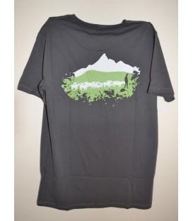 """tee-shirt coupe droite anthracite """"troupeau de moutons"""""""